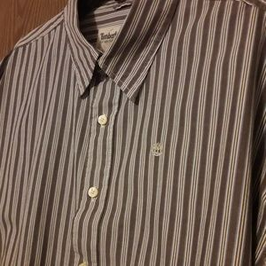 Timberland Shirts - Timberland Striped Dress Shirt Button Front Sz XXL